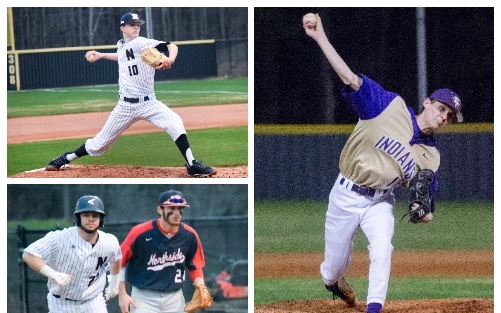 Newnan's Jake Martin (top left) and Peyton Ramey (right) were sharp in 2018 season openers.