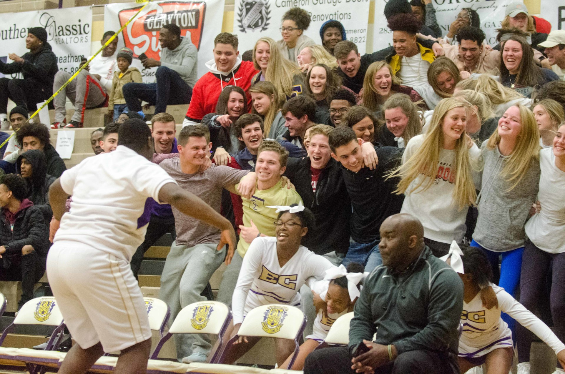 East Coweta's student section is hoping to give home teams a boost Tuesday vs. Pebblebrook.