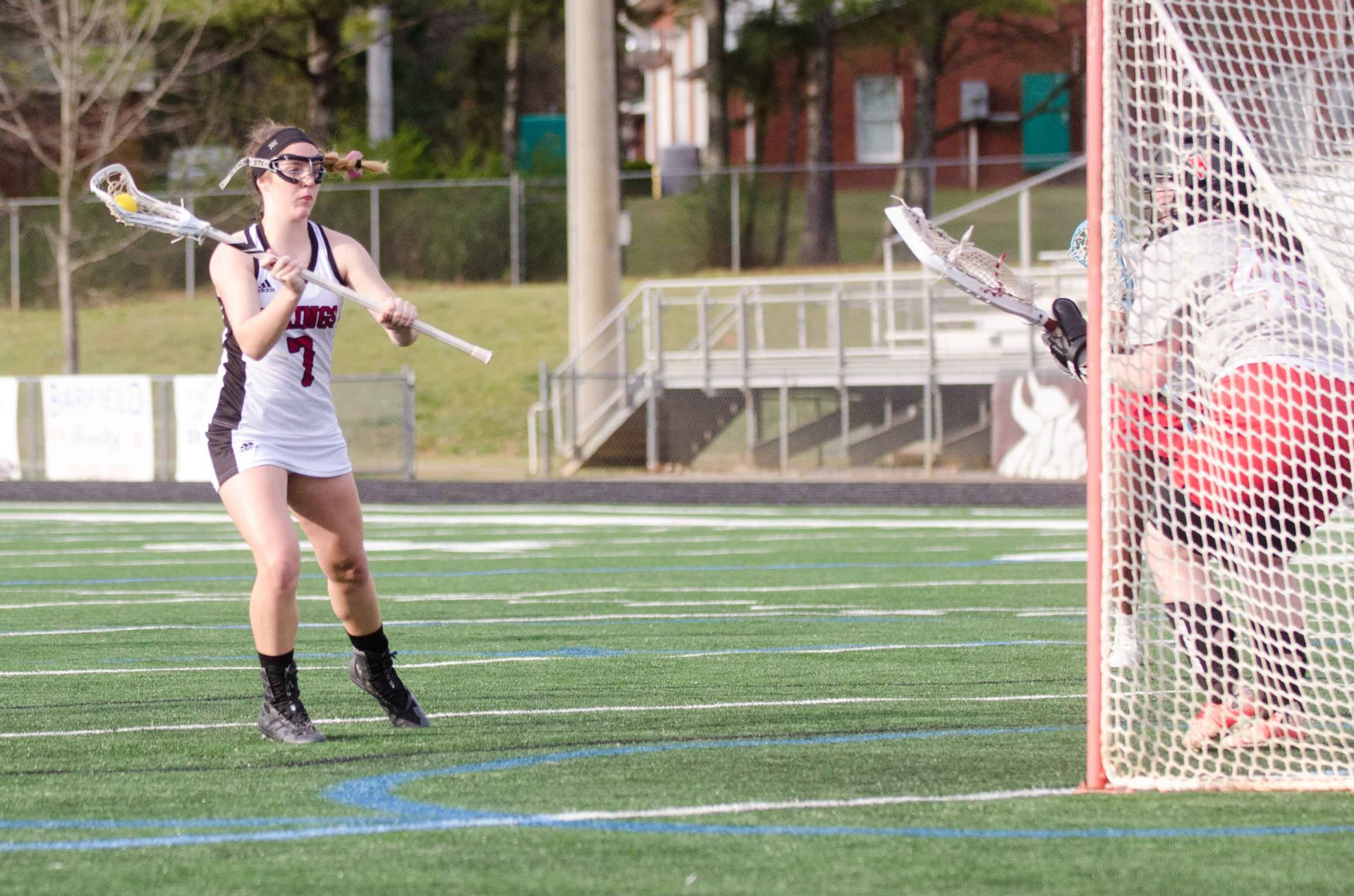 Kennedy Halpin scored a team-high five goals and added five ground balls in a win over Woodward.