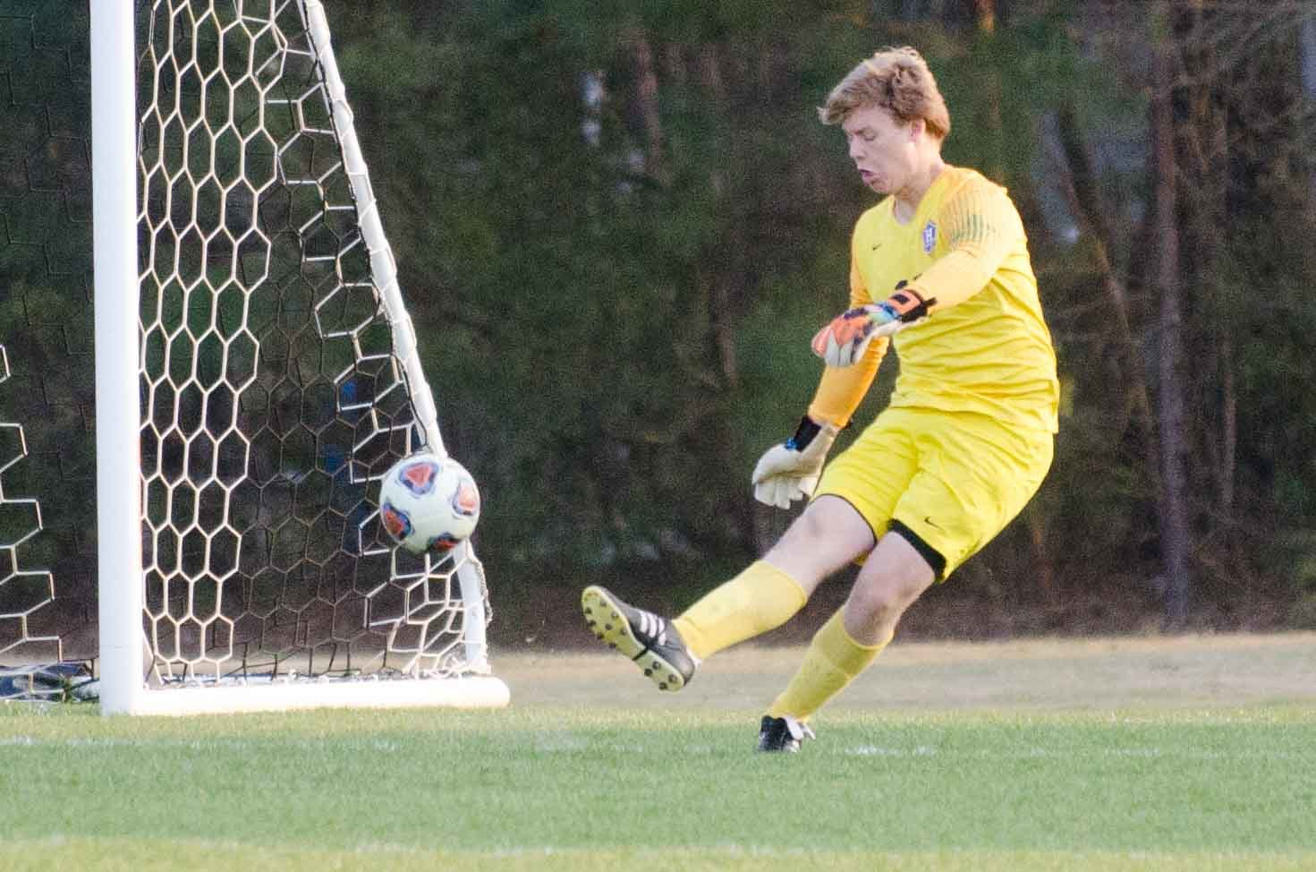 Heritage senior keeper Jack Hunt allowed just one goal in three state playoff games.